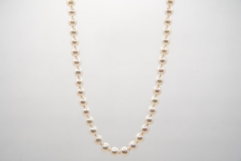 14K yellow gold Cultured Pearls 17''