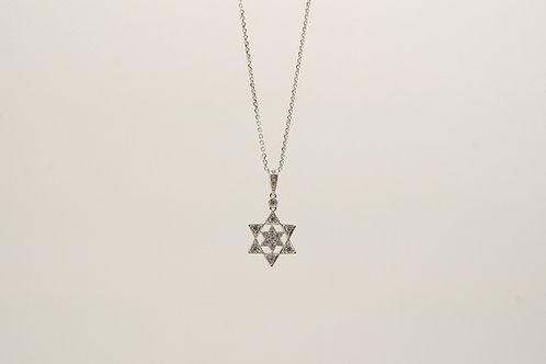 Star of David Diamond Pendant