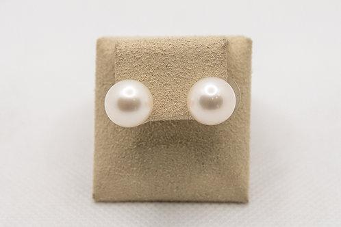 18K Freshwater pearl earrings