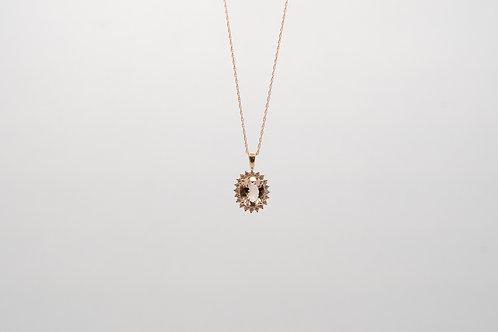 Morganite & Diamond 2.60cts