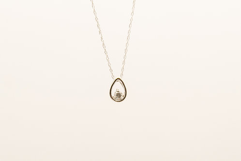 Solitaire Diamond Pendant 0.10cts
