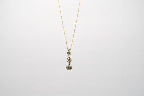 Three Diamond Pendant 1.35cts