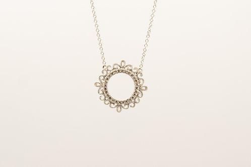 Vintage Circle Diamond Necklace