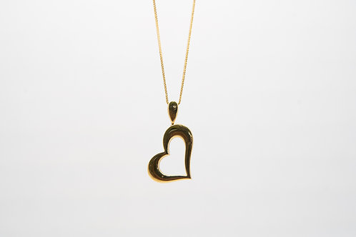 14K Heart Shaped Pendant
