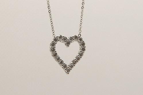 Diamond Heart Pendant 0.75cts