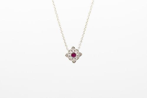 Diamond and Ruby Pendants
