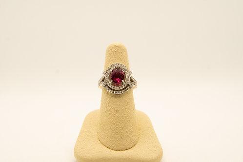 Fashion Ruby & Diamond Ring