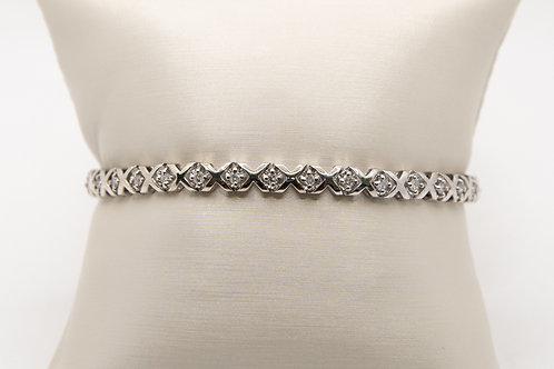 "Diamond Tennis Bracelet ""XO"" 0.75cts"