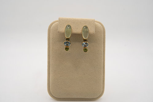 MICHOU Multi-Color Stoned Earrings