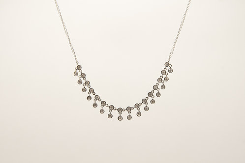 Diamond Necklace Bezel set 0.53cts