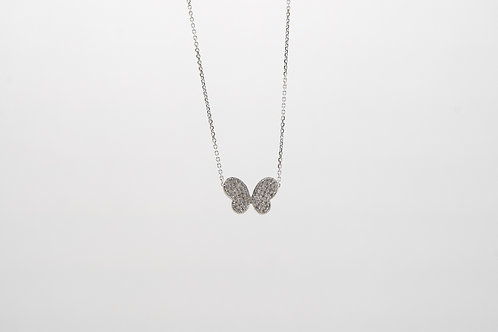 Diamond Butterfly Necklace 0.35cts