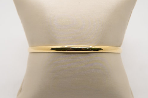 14K Yellow Gold Solid Bangle Bracelet