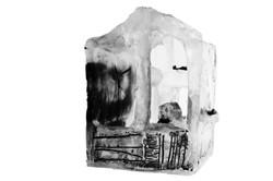 Abri sensible, pâte de verre et gravure, 2015