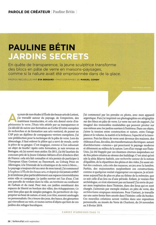 Pauline Bétin Jardins Secrets