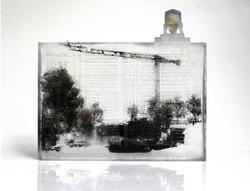 Architecture, pâte de verre et sérigraphie, 2018