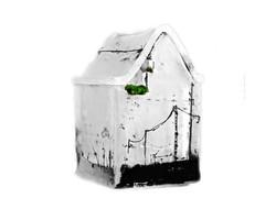 Boîte à secrets, pâte de verre et sérigraphie, 2013