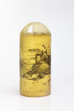 silo jaune, pâte de verre, 2015