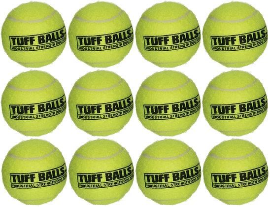 12 Tuff Balls - Industrial Strength Dog Toys - Junior/Small Size