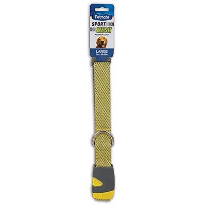 "Petmate Aspen Pet Products Reflective Sport Collar, Yellow, 1"" x 16-26"""