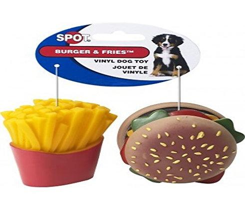Ethical Pet Products (Spot) Vinyl Burger & Fries 2 Pack