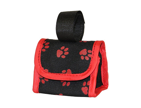 Five Star Pet Paw Print Dispenser and Pet Clean Up Bags, Red