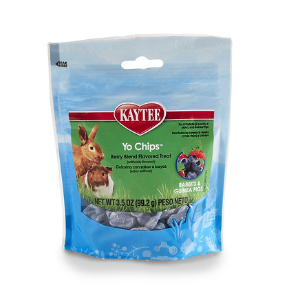 Kaytee Mixed Berry Flavor Yogurt Chips For Rabbit And Guinea Pig, 3.5-Oz Bag