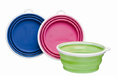 Bamboo Silicone Pop-Up Travel Bowl, Colors Vary, 6 inches x 8 inches x 3 inches