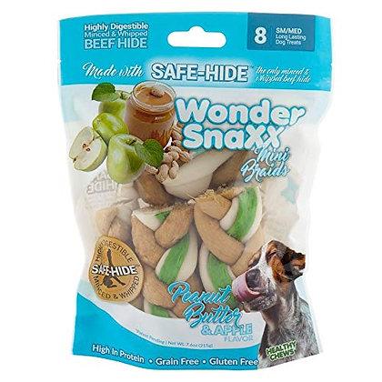 Healthy Chews Wonder Snaxx Braids, 8 Small/Medium, Peanut Butter and Apple Flavo