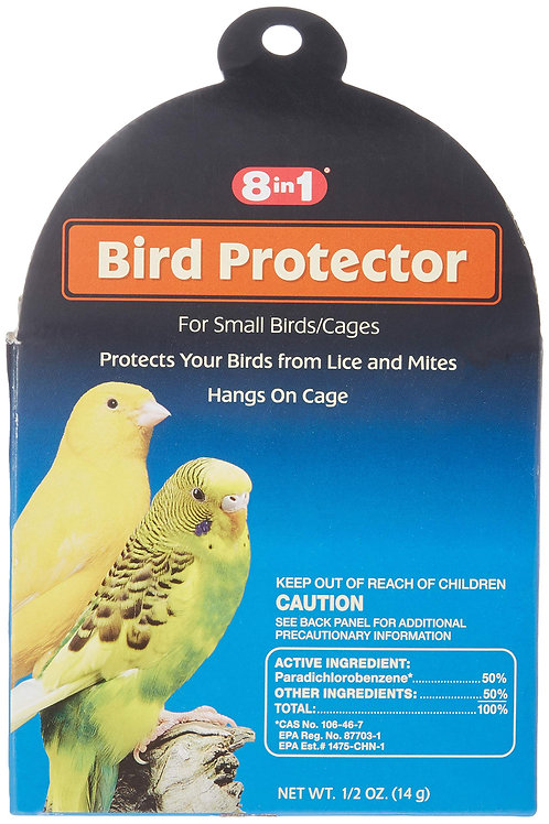8 in 1 Premium Bird Protector from Lice & Mites for Small Cages (1/2 oz.)