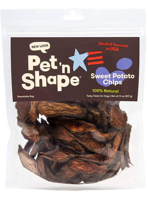 Pet 'n Shape Chik 'N Sweet Potato Chips  Made and Sourced in The USA-All Natural