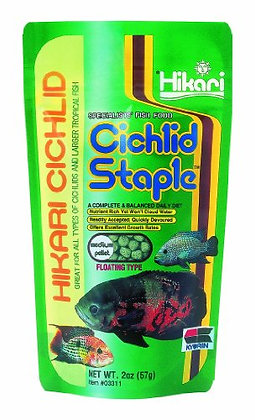 Hikari 2-Ounce Cichlid Staple Floating Pellets for Pets, Medium