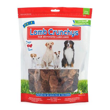 Pet Center, Inc. PCI Lamb Crunchys Raw Dehydrated Lamb Lungs Dog Treats, 8 Ounce