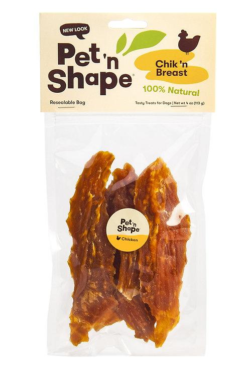 Pet 'N Shape - Chik 'N Breast - 100-Percent Natural Chicken Jerky Dog Treats, 4-