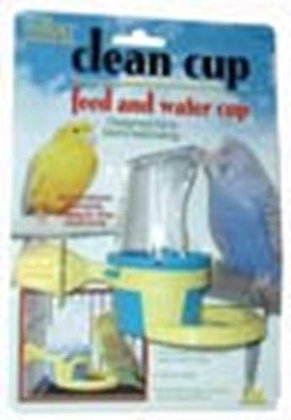 JW Pet Company Clean Cup Feeder and Water Cup Bird Accessory, Small, Colors may