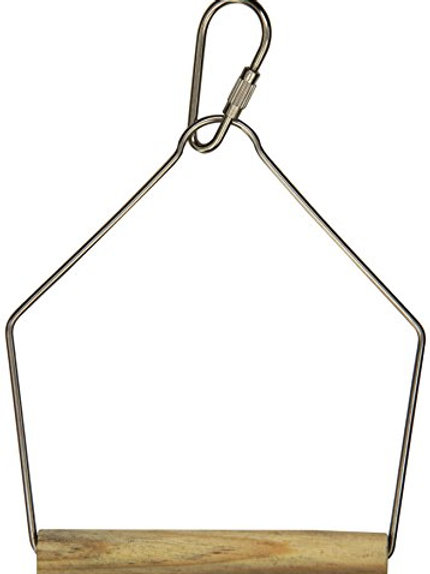 Prevue Pet Products BPV387 Natural Wood Birdie Basics Birch/Wire Swing, 3 by 4-I