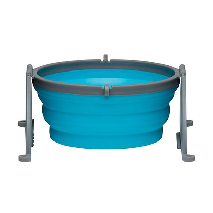 Loving Pets Bella Roma Travel Bowl for Dogs, Large, Blue