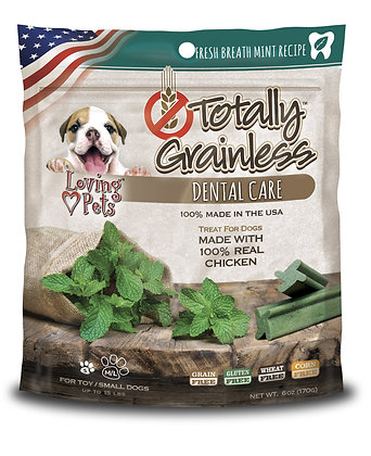 Loving Pets Totally Grainless Fresh Breath Mint Recipe Dental Care Toy For Small