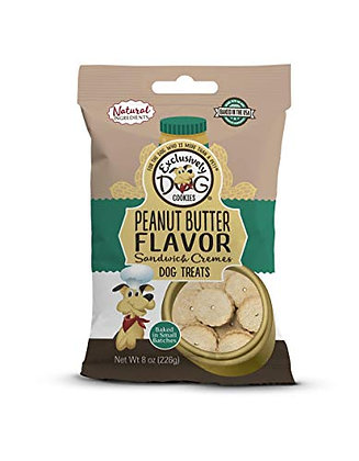 Exclusively Dog Sandwich Cremes-Peanut Butter Flavor, 8-Ounce Package (03500)
