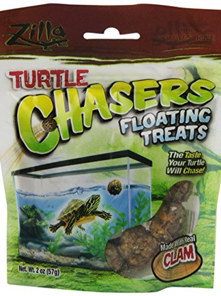 R-Zilla 100109607 Real Clam Turtle Chasers Floating Treat, 2-Ounce