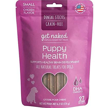 Get Naked Grain Free 1 Pouch 6.2 Oz Puppy Health Dental Chew Sticks, Small