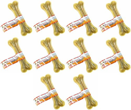 Loving Pets Dlv4708 10-Pack Natures Choice Natural Pressed Rawhide Bones For Dog