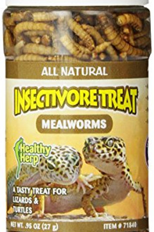 San Francisco Bay Brand SSF71840 Health Herp Insectivore Treat, Mealworm, 0.95-O