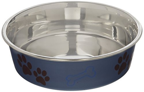 Loving Pets 7463 Metallic Bella Bowl, Medium, Blueberry