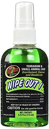 Zoo Med Laboratories SZMWO14 Wipe Out 1 Terrarium Cleaner, 4.25-Ounce