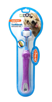 EZ DOG Three Sided Toothbrush for Dogs | Dental Care For Dogs For Fresh Breath |