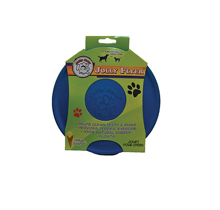 Jolly Pets Flexible, Floating Flyer Dog Toy, Medium/7.5-Inch, Blue, Model Number