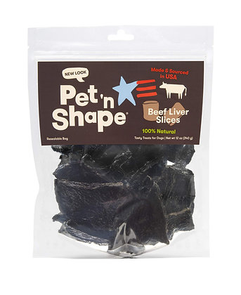 Pet 'n Shape Beef Liver Slice Jerky - Made & Sourced in The USA - All Natural Do