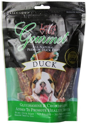 Loving Pets All Natural Premium Duck Strips With Glucosamine & Chondroitin Dog T