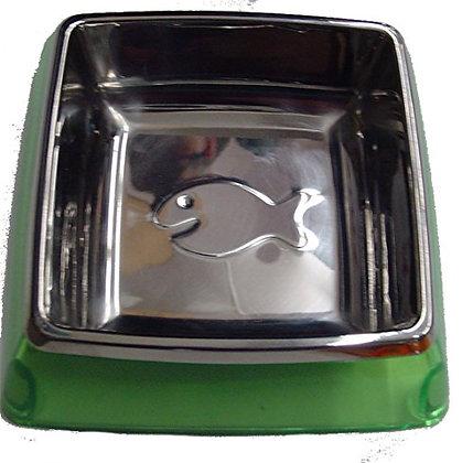 Kuji Sports 5-82013 Sm Grn Utopian Cat Bowl Pet Food Dish