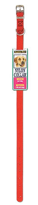 """Doskocil Aspen Pet Products Standard NYL Collar, Red, 10"""" x 3/8"""""""